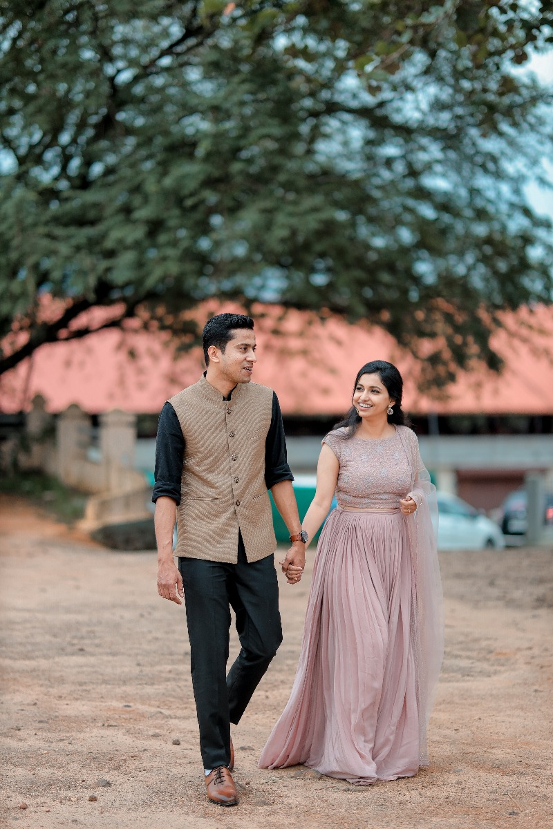 Beautiful Signature Bridal Lehanga from our collection  Carried by pretty bride Rinu  on her Engagement