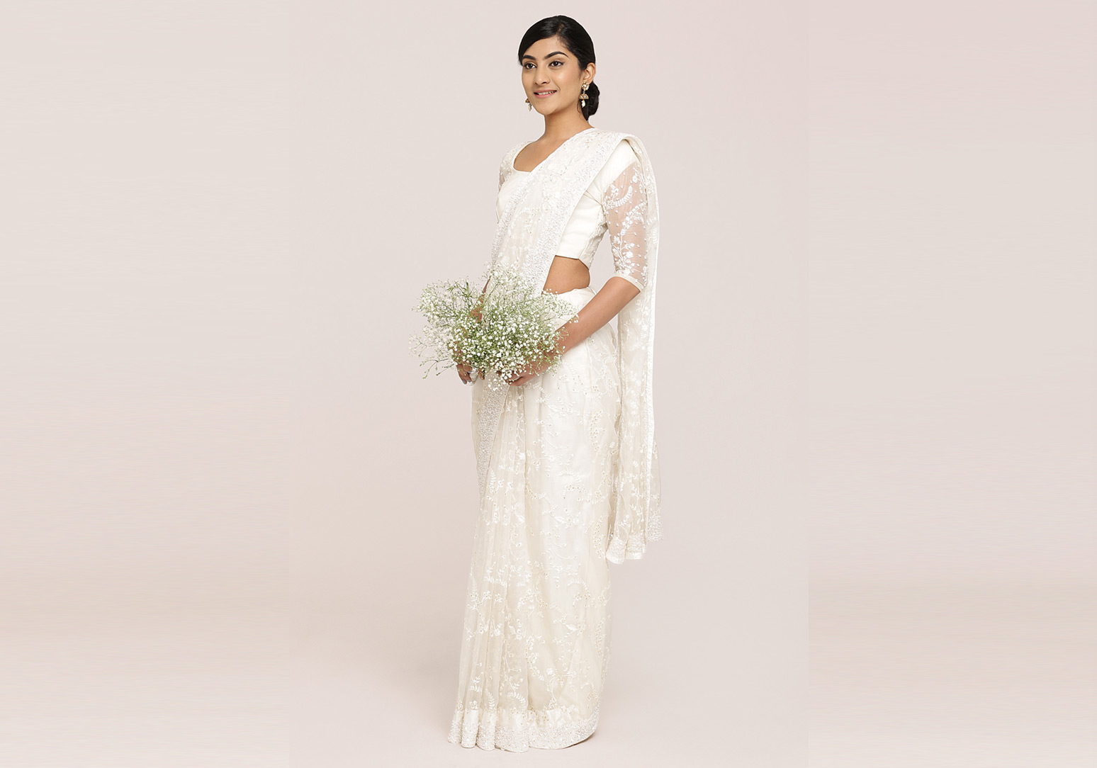 White Organza Saree