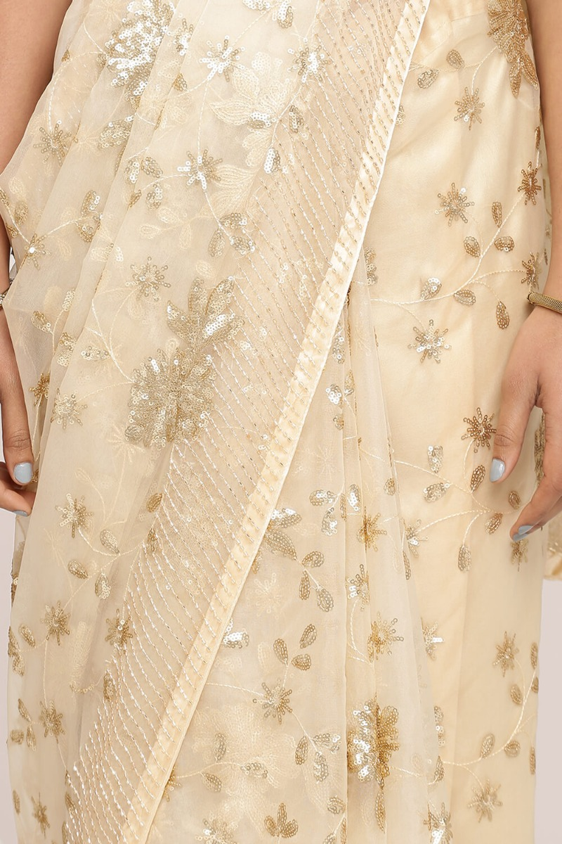 Rose Gold Saree