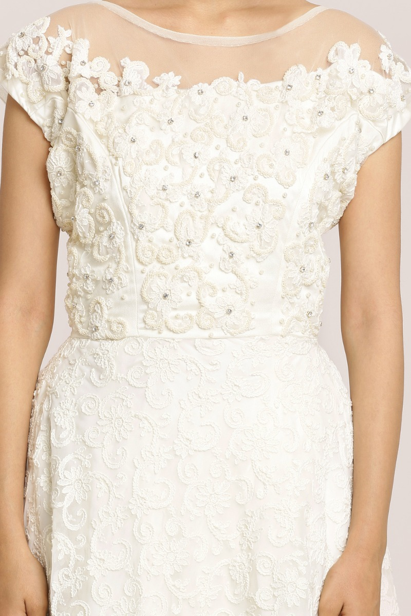 Light Cream A-Line Gown