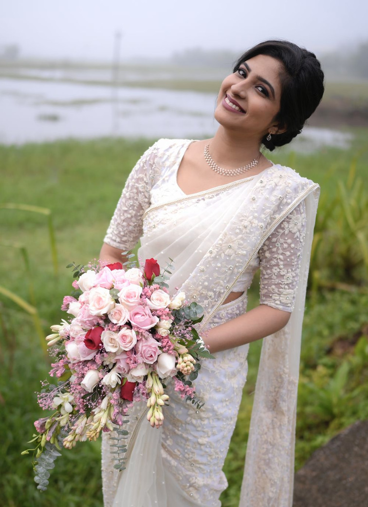 Beautiful Signature Bridal Saree from our collection  Carried by pretty bride Pheba  on her wedding