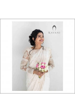 Beautiful Signature Bridal Saree from our collection by pretty bride Irene on her wedding