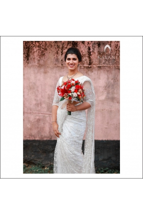Beautiful Signature Bridal Saree from our collection  Carried by pretty bride Meenu on her wedding