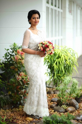 Beautiful Signature Bridal Saree from our collection  Carried by pretty bride Irene  on her wedding