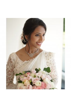 Beautiful Signature Bridal Saree from our collection  Carried by pretty bride Aneetta  on her wedding