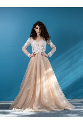 Aline Nude shade Wedding Gown