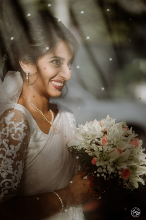 Beautiful Signature Bridal Saree from our collection  Carried by pretty bride Kezia on her wedding