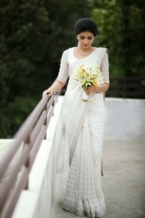 Beautiful Signature Bridal Saree from our collection Carried by stunning bride Rosmy on her wedding