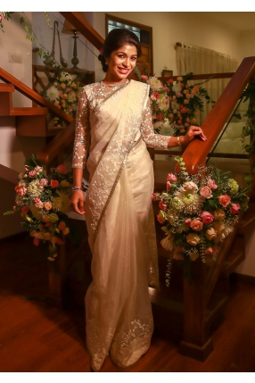Beautiful Signature Bridal Saree from our collection  Carried by pretty bride Hannah  on her wedding