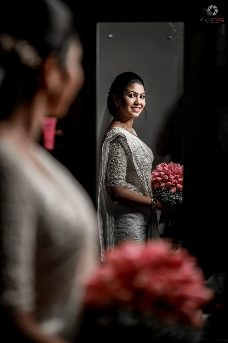 Beautiful Signature Bridal Saree from our collection  Carried by pretty bride Julie  on her wedding