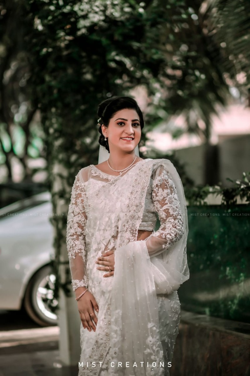 Beautiful Signature  Saree from our collection  Carried by pretty bride Linda on her wedding