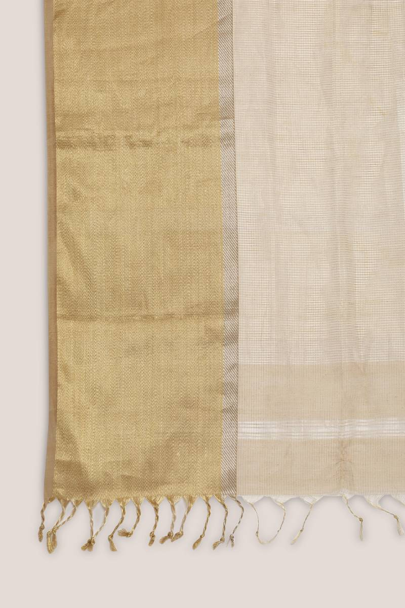 Dull Golden Tissue Saree