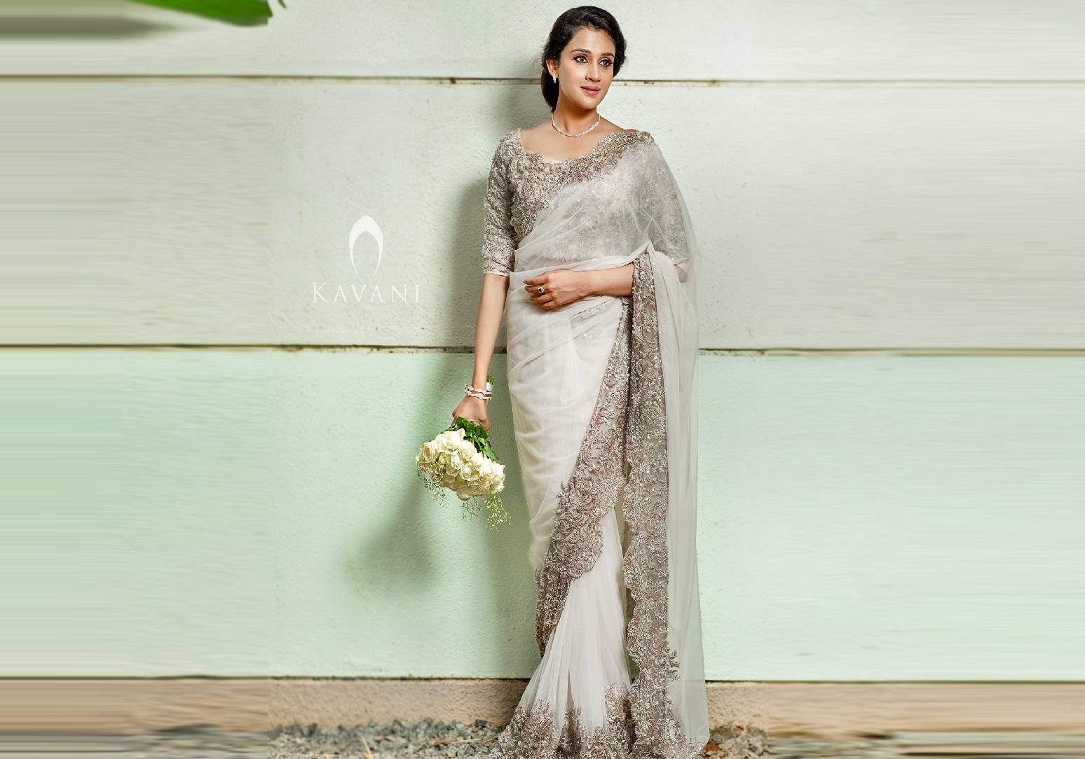 Champagne Shade Double Net Saree