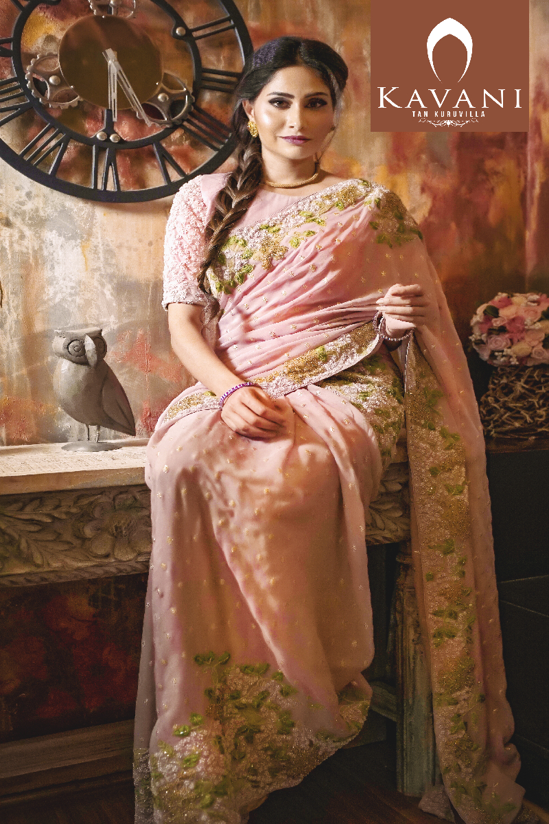 Dusty Rose Georgette Saree