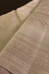 Light Dove shade Bridal  Kanchivaram Saree with Silver weaving