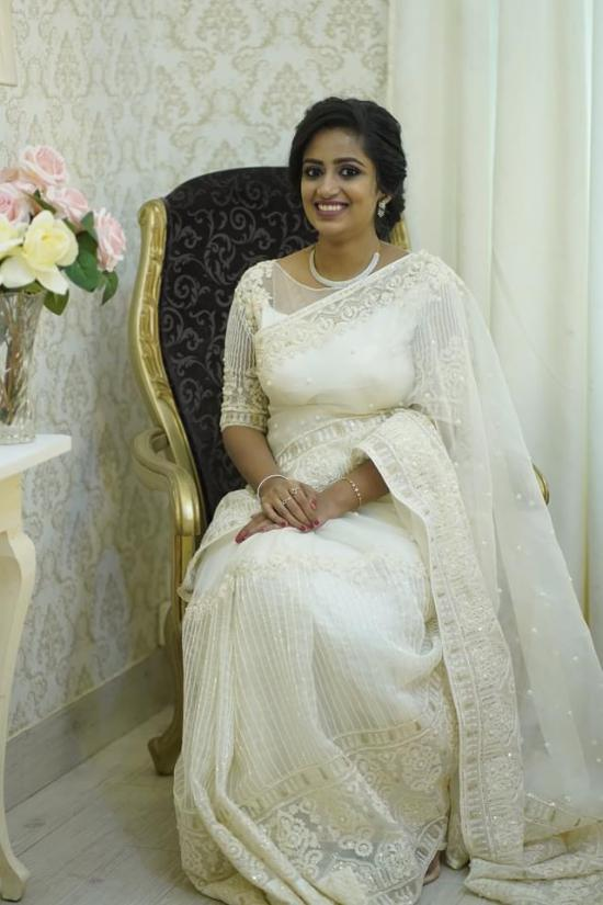Beautiful Signature Bridal Saree from our collection Carried by pretty bride Nithya on her wedding